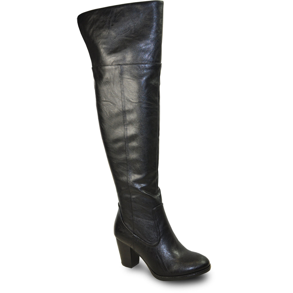 VANGELO Women Boot SD7411 Over-The-Knee Dress Boot Black