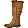 VANGELO Women Boot SD9528 Knee High Winter Fur Casual Boot Camel Brown