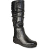 VANGELO Women Boot SD9530 Knee High Winter Fur Casual Boot Black