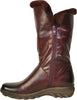 VANGELO Women Boot SD9531 Knee High Winter Fur Casual Boot Bordo Red
