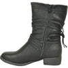 VANGELO Women Boot SW4430 Ankle Casual Boot Black