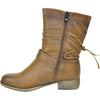 VANGELO Women Boot SW4430 Ankle Casual Boot Taupe Brown
