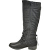 VANGELO Women Boot SW4431 Knee High Casual Boot Black