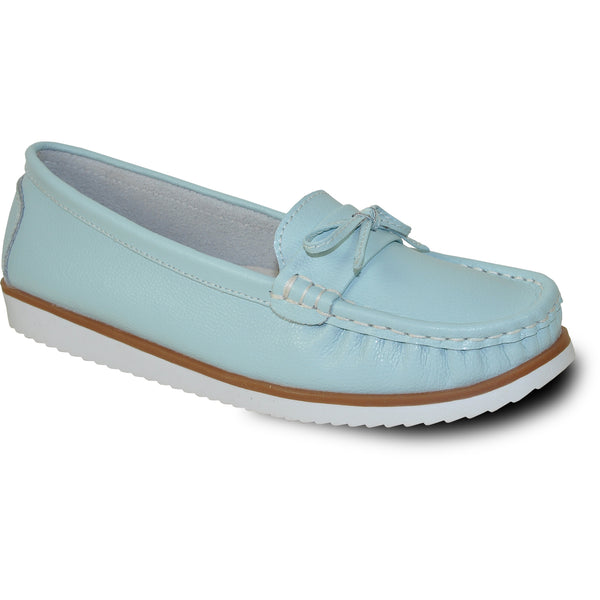 KOZI Women Leather Casual Shoe TH9254 Comfort Shoe Blue