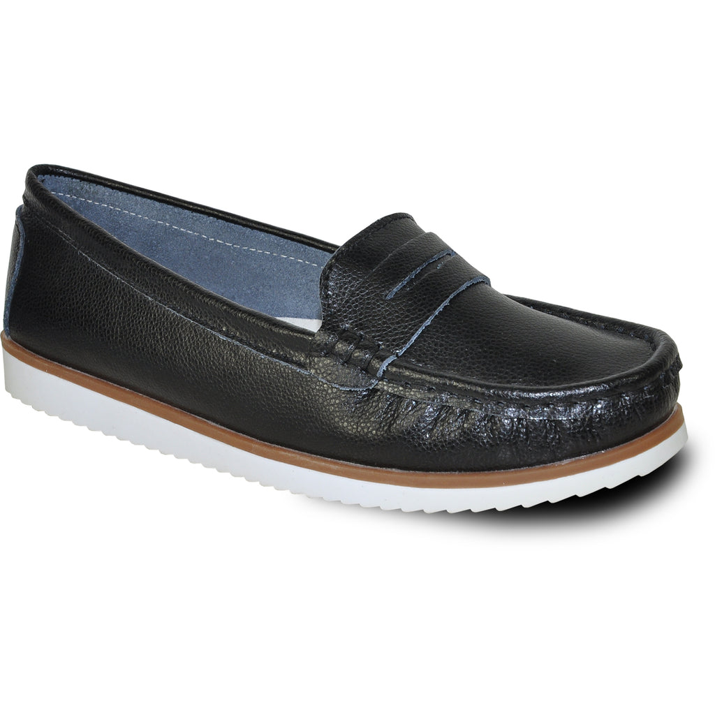 KOZI Women Leather Casual Shoe TH9255 Comfort Shoe Black