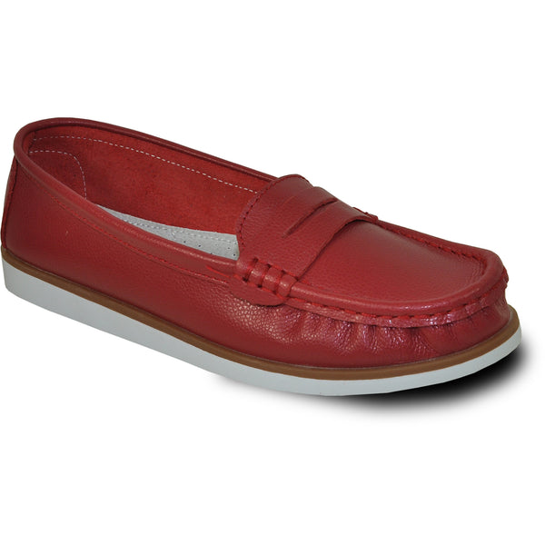 KOZI Women Leather Casual Shoe TH9255 Comfort Shoe Red