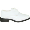 VANGELO Boy TUX-1KID Dress Shoe Formal Tuxedo for Prom & Wedding White Patent