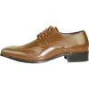 VANGELO Men Dress Shoe TUX-5 Oxford Formal Tuxedo for Prom & Wedding Saddle Brown - Wide Width Available