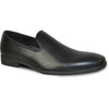 VANGELO Men Dress Shoe VALLO-3 Loafer Formal Tuxedo for Prom & Wedding Black Matte - Wide Width Available - Ortholite Insole