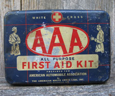 AAA First Aid Kit tin provided for custom made switch plates.