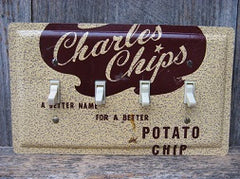 Quad Switch Plate Made From Vintage Charles Chips Tins
