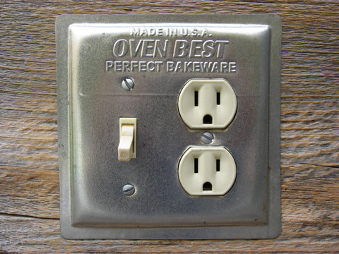 Recycled Baking Pan Combo Switch Plate Outlet Cover Oven Best