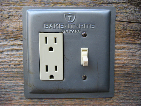 Recycled Baking Pan Combo Switch Plate GFCI Cover Bake-it-Rite