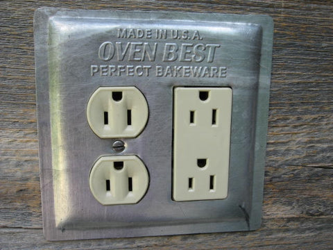 Recycled Baking Pan Combo GFCI Outlet Cover Oven Best