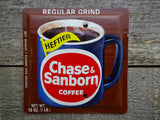 Blank Switch Plate Made From A Vintage Chase & Sanborn Coffee Tin BK-2018 - Tin Can Sally