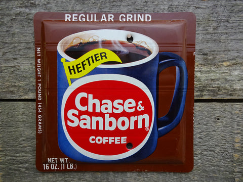 Blank Switch Plate Made From A Vintage Chase & Sanborn Coffee Tin