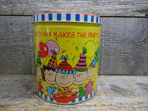 Chex Party Mix Tin Peanuts Characters Advertising Tins For Sale
