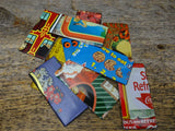Tin Material Findings Rectangular Pieces Vintage Advertising Tins 10 Pack