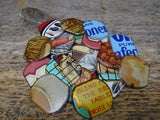 Tin Material Findings Rounded Pieces 10 Sets 2 Pairs Advertising Tins
