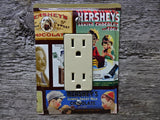 GFCI Covers Or Rocker Switch Plates Made From Hersheys Chocolate Tins