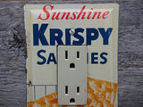 Rocker Switch Plates Made From Vintage Saltines Tins