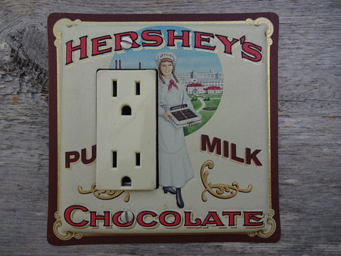 GFCI Covers Rocker Switch Plate Made From Hersheys Milk Chocolate Tins