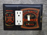 Barringer And Browns Mustard Tin Combo GFCI Switch Cover