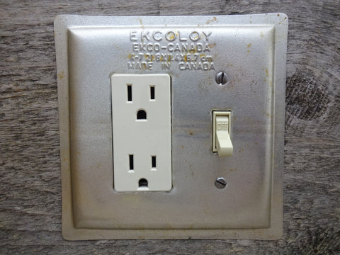 GFCI Light Switch Combo Covers Made From Vintage Ekcoloy Baking Pans