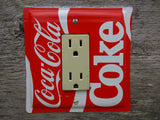 Coca Cola Rocker Switch Plate Or GFCI Cover Made From An Old Coke Tin