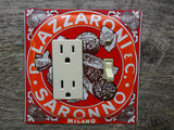 Combo Switch Plates GFCI Cover Made From Lazzaroni Biscotti Tins