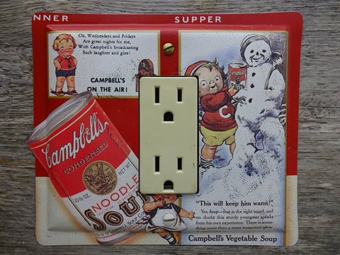 GFCI Covers Or Rocker Switch Plates Made From Campbells Soup Tins