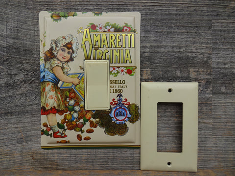 Rocker Switch Plates Made From Amaretti Virginia Biscotti Tins