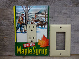 Rocker Switch Plates Made From Vintage Maple Syrup Tins