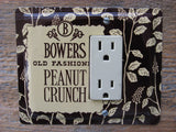 Vintage Bowers Peanut Crunch Tins GFCI Or Rocker Switch Plates