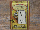 Rocker Switch Plate Or GFCI Cover Made From Luce DeCielo Biscotti Tins