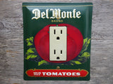 Vintage Del Monte Tin Canisters GFCI Covers Rocker Switch Plates