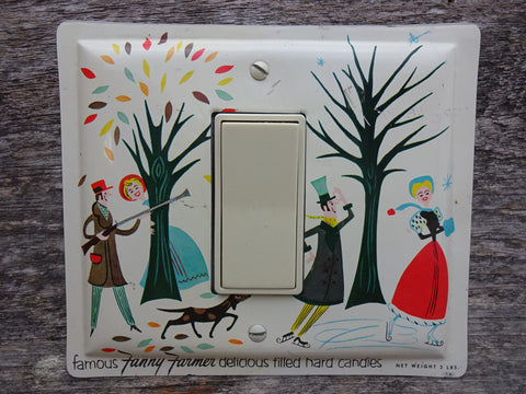 Rocker Switch Plates Made From Vintage Fanny Farmer Candies Tins