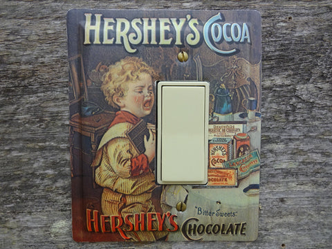 Rocker Switch Plates GFCI Covers Made From Hersheys Cocoa Tin Trays