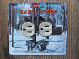 Horizontal Outlet Covers Made From Vintage Maple Syrup Tins