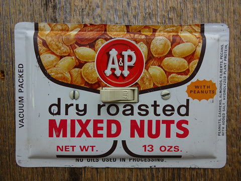 Vintage A&P Mixed Nuts Tins Made Into Horizontal Switch Plates