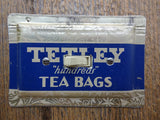 Vintage Tetley Tea Tin Made Into Horizontal Light Switch Covers