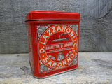 Lazzaroni Saronno Biscotti Tin Collectible Advertising Tins For Sale