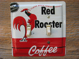 Vintage Red Rooster Coffee Tin Limited Edition Double Switch Plate LE-0014-XX - Tin Can Sally - 1