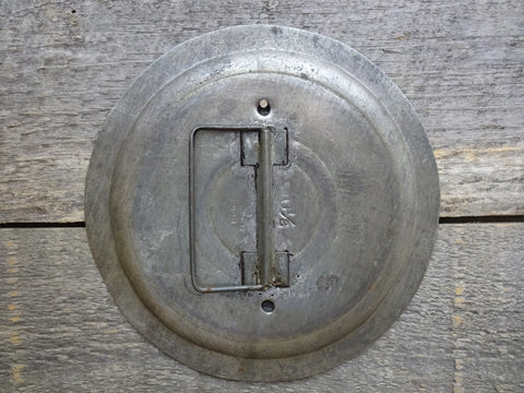 Blank No Toggle Switch Plate Made From A Vintage Pot Cover