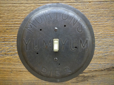 Vintage Mortons Yum-Yum Pie Pans Limited Edition Single Switch Plates