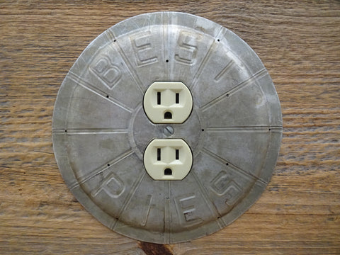 Vintage Best Pie Pans Made Into Limited Edition Outlet Covers