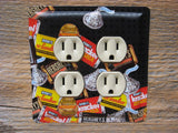 Double Outlet Cover Made From A Hersheys Miniatures Tin