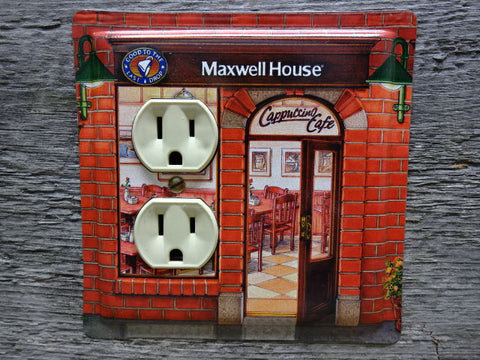 Outlet Covers Made From Maxwell House Cappuccino Cafe Coffee Tins