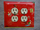 Double Outlet Covers Made From Antique Advertising Tins