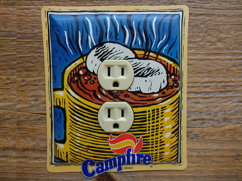 Outlet Covers Made From Campfire Marshmallows Cocoa Tins